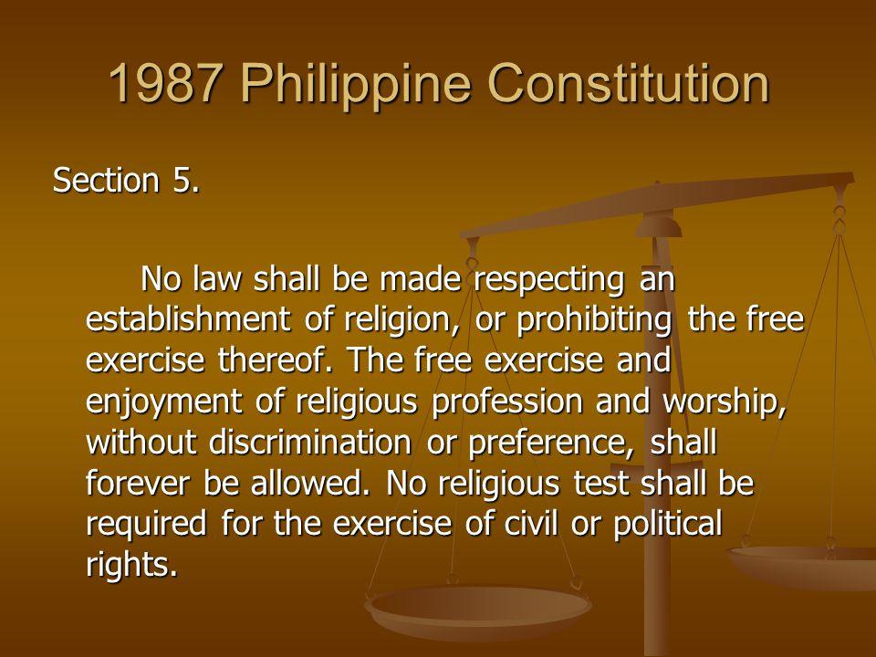 Free Exercise Clause and Establishment Clause Philippine Jurisprudence Revisited 8) Iglesia ni Cristo v.