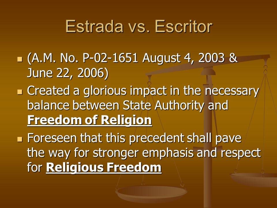 Re: Estrada vs.Escritor DECLARATION OF PLEDGING FAITHFULNESS I, Soledad S.