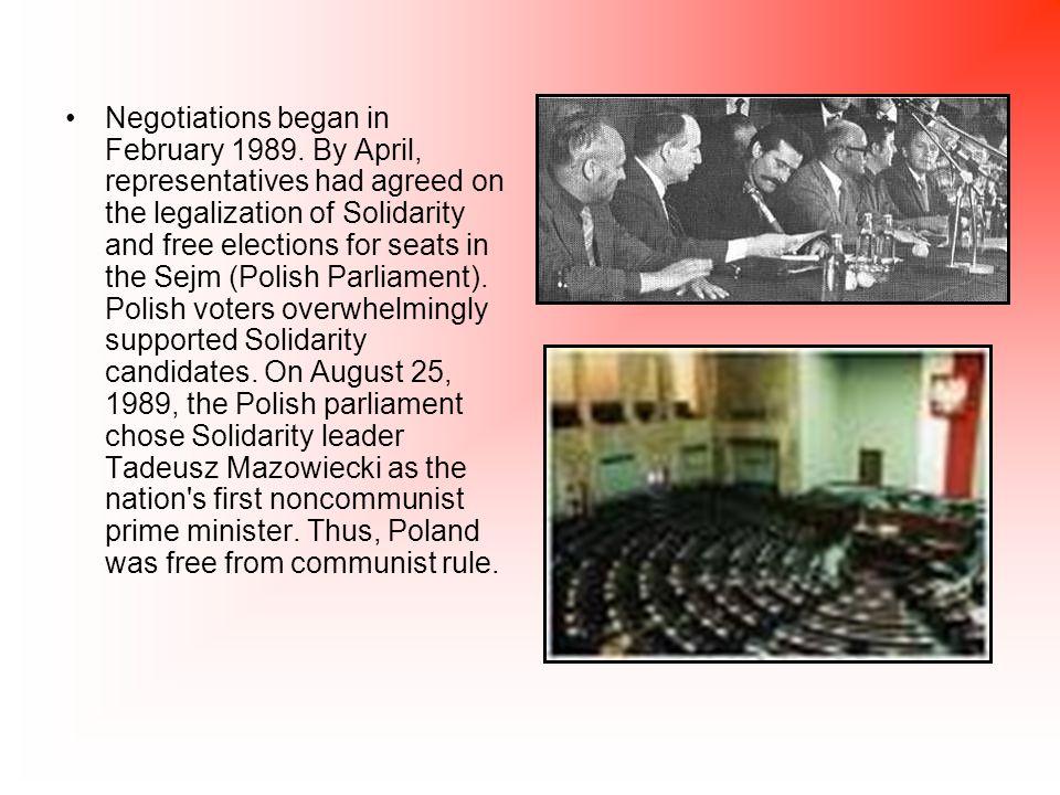 The revolutionary changes in Poland sparked reforms throughout Eastern Europe.