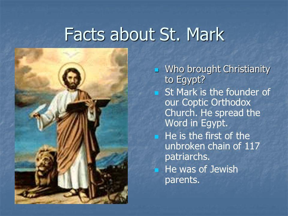 Who brought Christianity to Egypt. Who brought Christianity to Egypt.