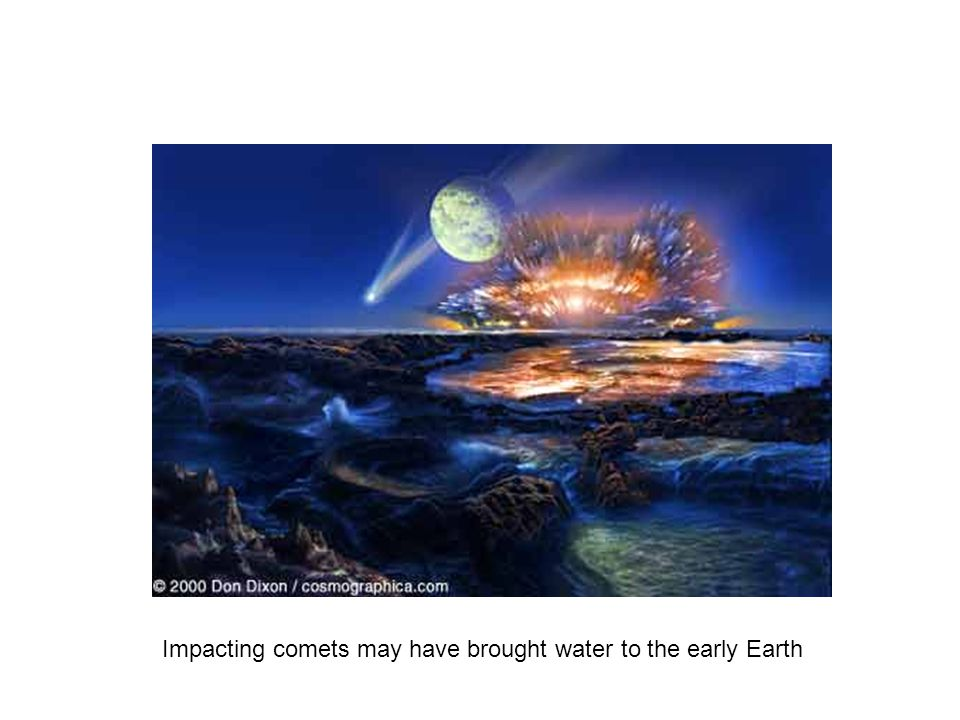 Impacting comets may have brought water to the early Earth