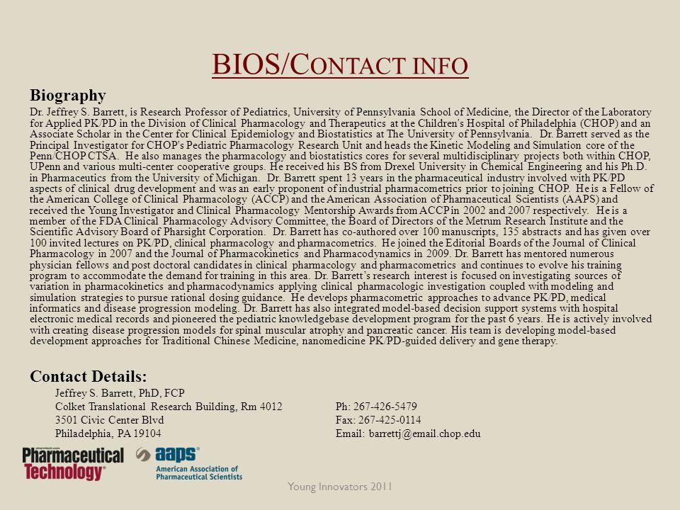 BIOS/C ONTACT INFO Biography Dr. Jeffrey S.