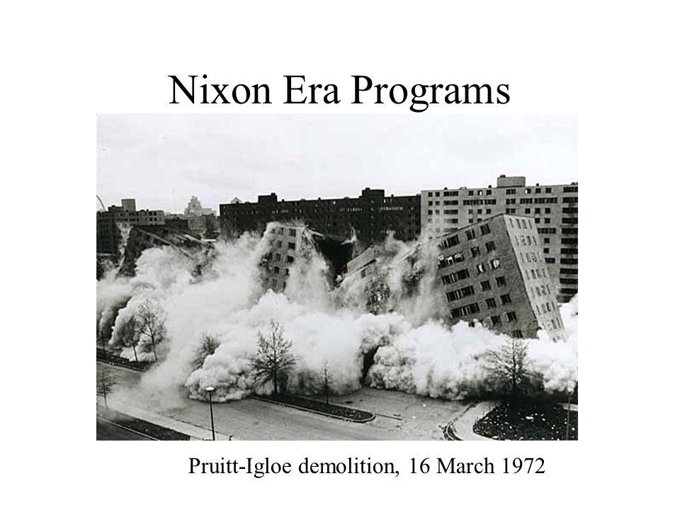 Nixon Era Programs Pruitt-Igloe demolition, 16 March 1972