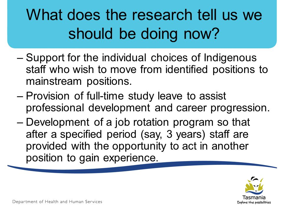 What does the research tell us we should be doing now.