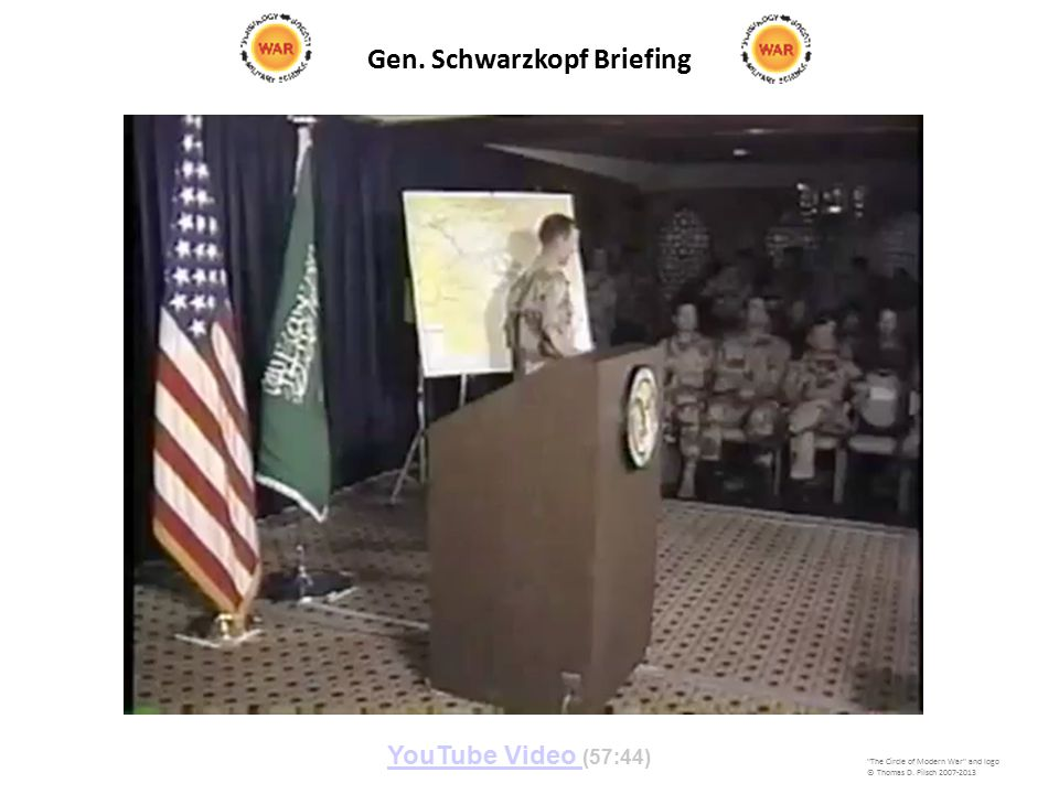 Gen. Schwarzkopf Briefing The Circle of Modern War and logo © Thomas D.