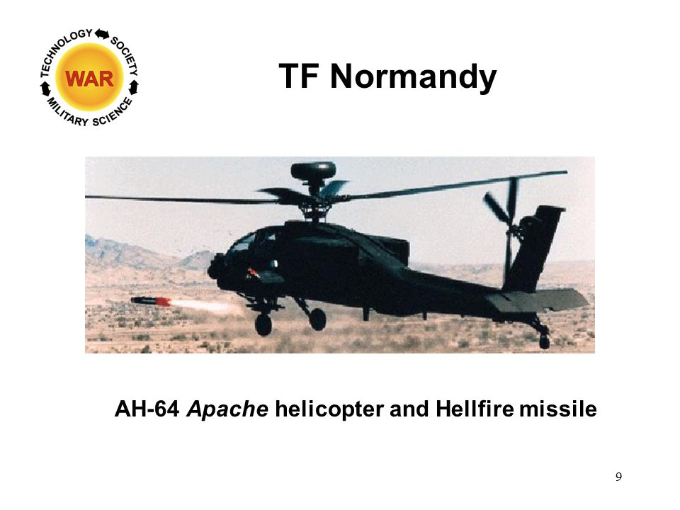TF Normandy AH-64 Apache helicopter and Hellfire missile 9