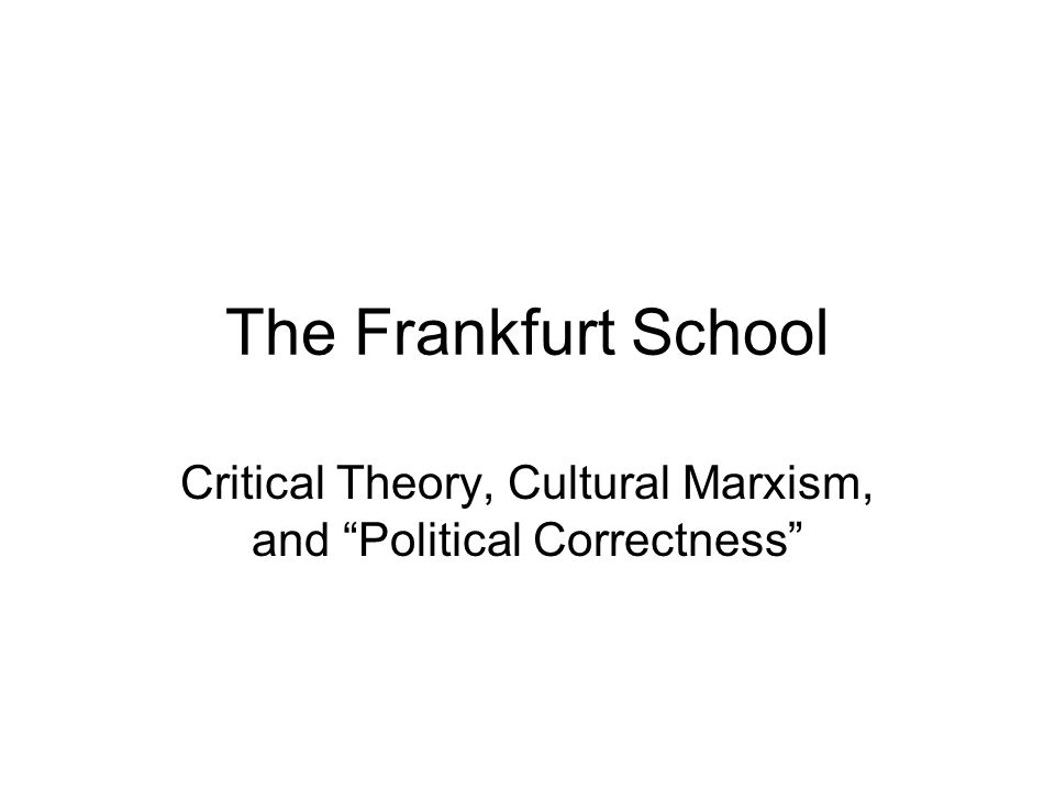 Critical Legal Studies The Critical Legal Studies movement is a subordinate branch of Critical Theory or Cultural Marxism.