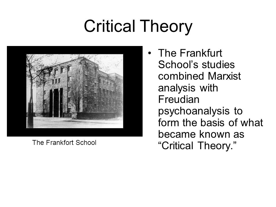 The Frankfurt School Moved to America In 1933, when Nazis came to power in Germany, the members of the Frankfurt School fled.