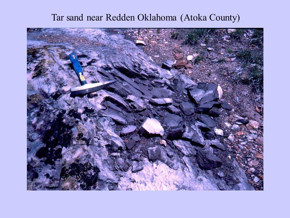 Tar sand near Redden Oklahoma (Atoka County)