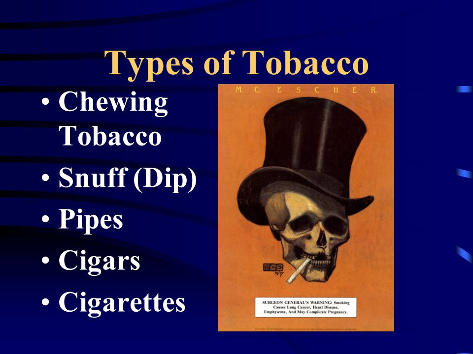 Effects of tobacco use on the body Smokers Voice Stimulates the brain reward system (Addiction) Increases blood sugar levels Stimulates vomit reflex Skin loses elasticity Narrows blood vessels, reducing oxygen to the brain Damages the immune system increasing the chance of suffering from diseases such as cancer