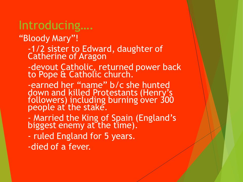 Introducing…. Bloody Mary .