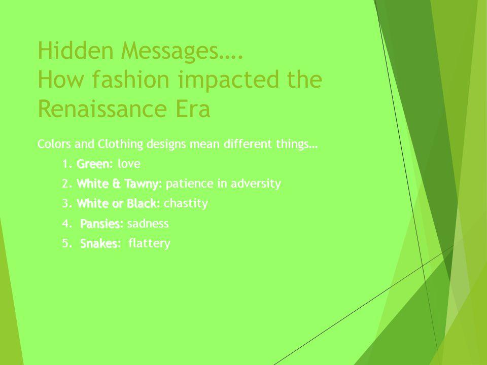 Hidden Messages….