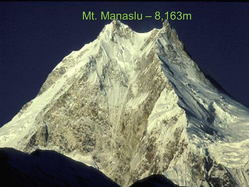 Mt. Manaslu – 8,163m