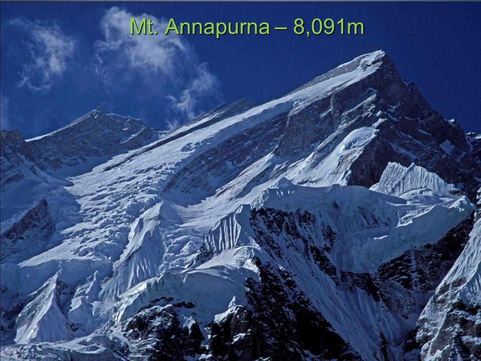 Mt. Annapurna – 8,091m