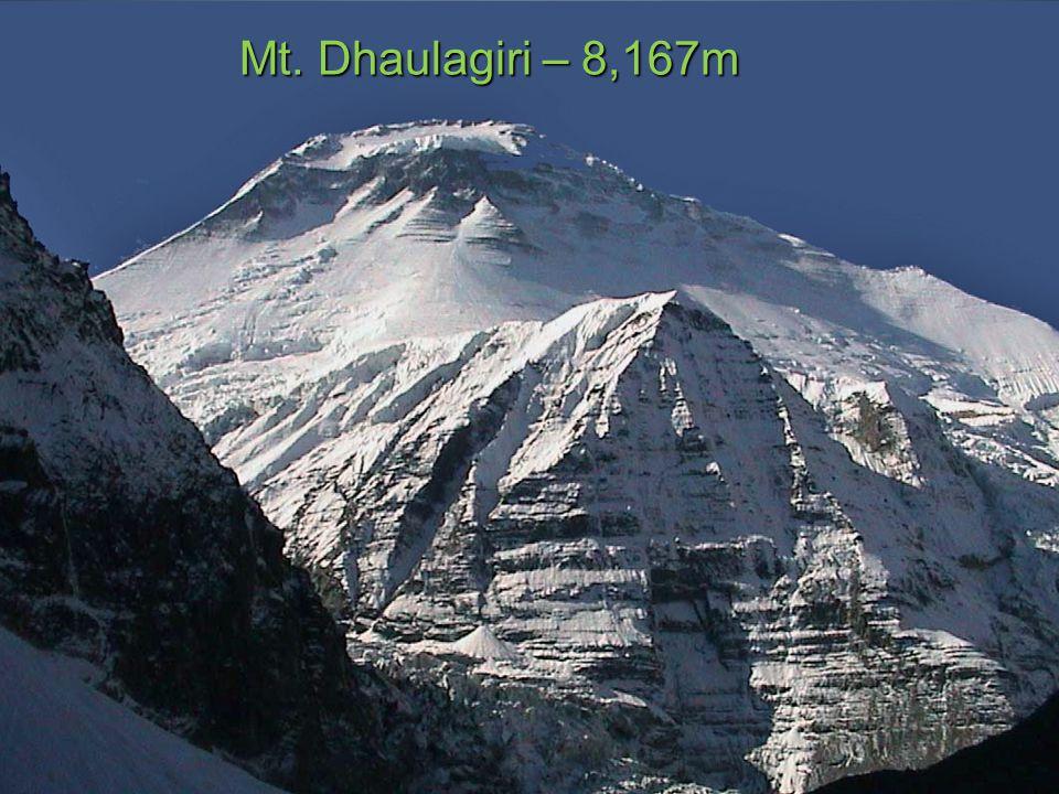 Mt. Dhaulagiri – 8,167m