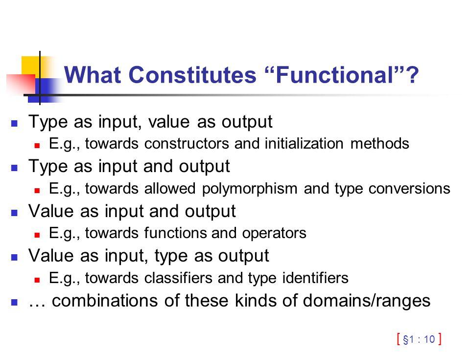 [ §1 : 10 ] What Constitutes Functional .
