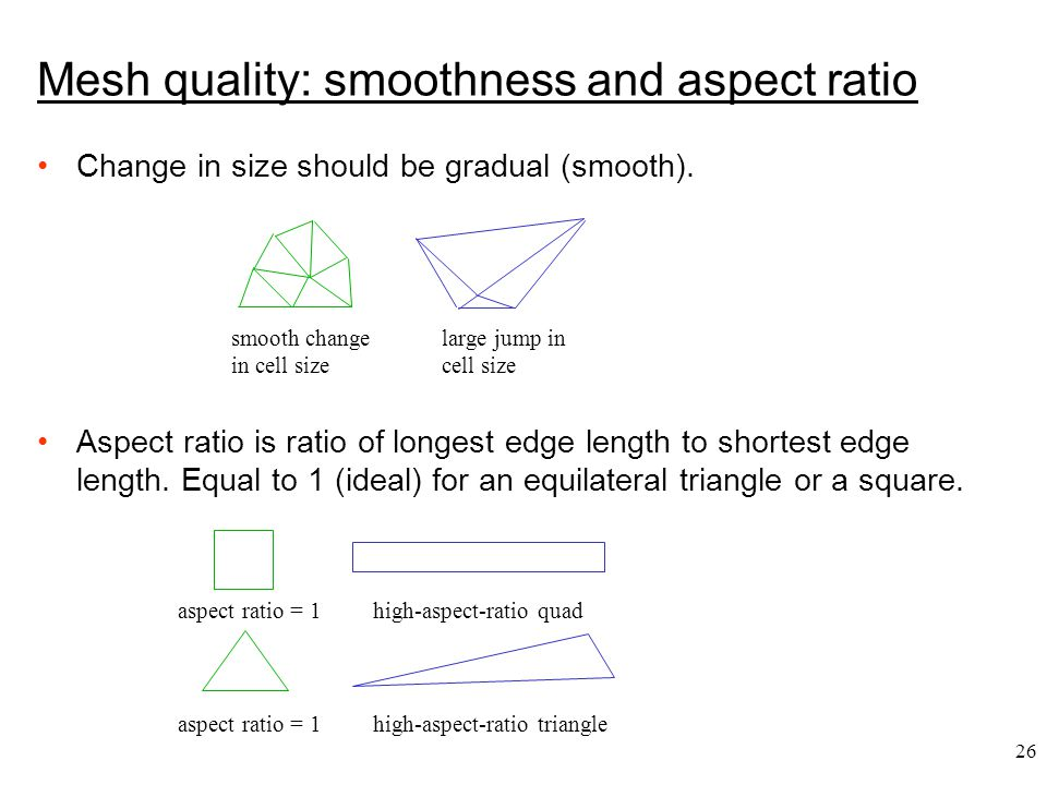 26 Change in size should be gradual (smooth).