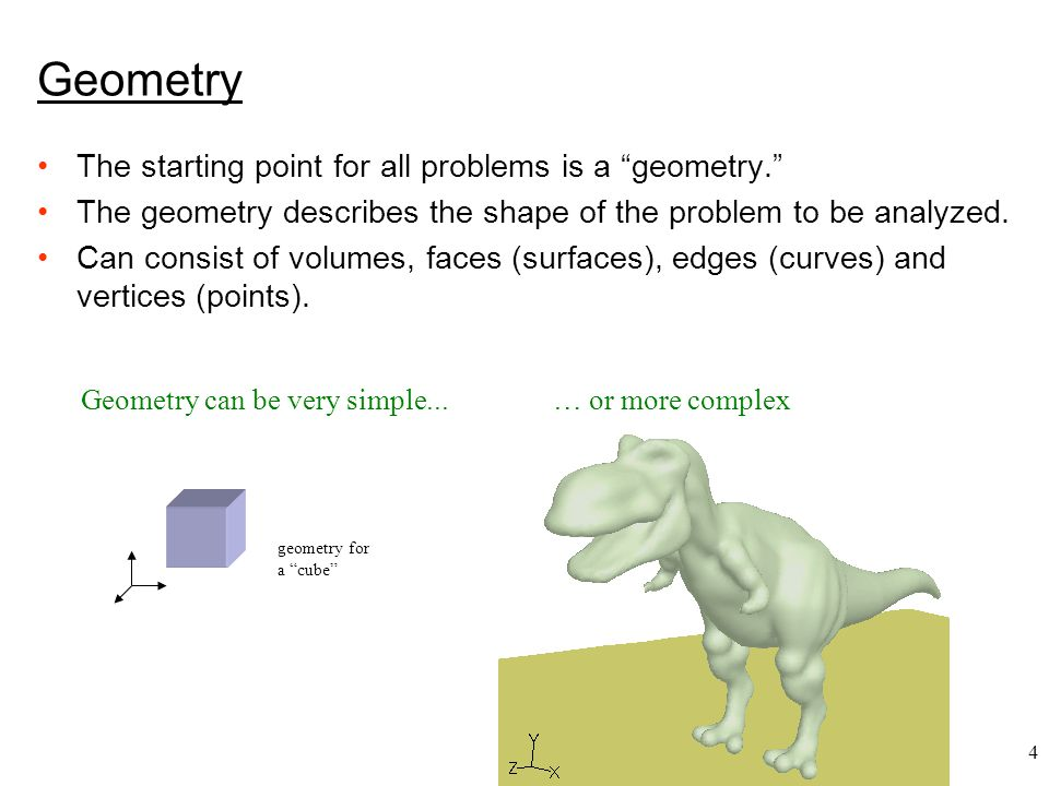 5 Geometry creation Geometries can be created top-down or bottom-up.