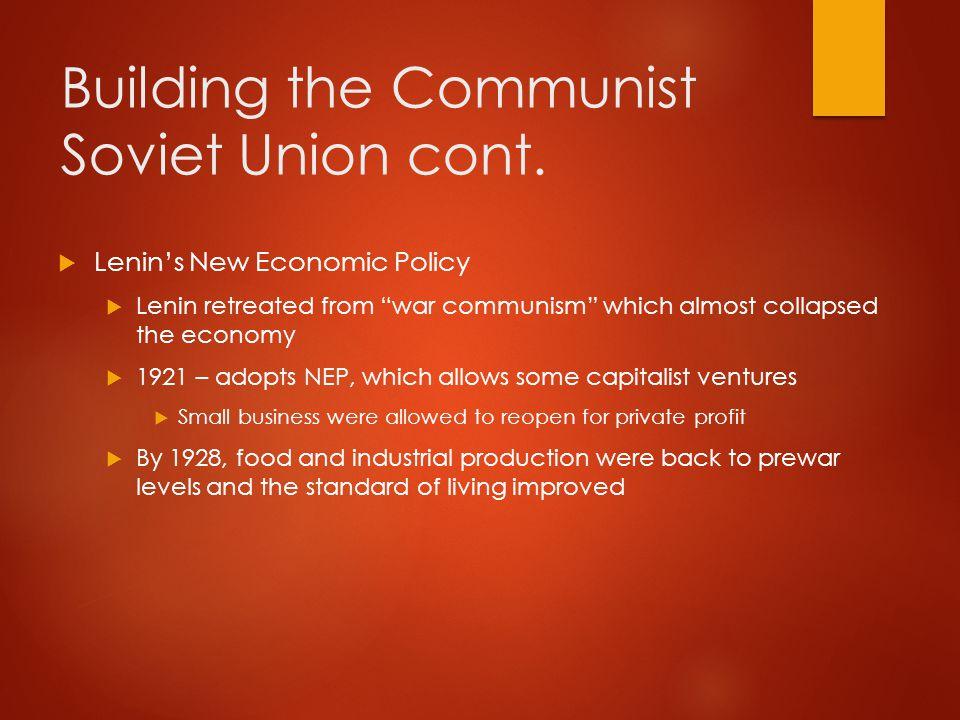 Stalin Takes Over  1924 – Lenin dies at age 54  Power struggle among Communist leaders  Trotsky – Marxist, skillful speaker, architect of Bolshevik revolution.