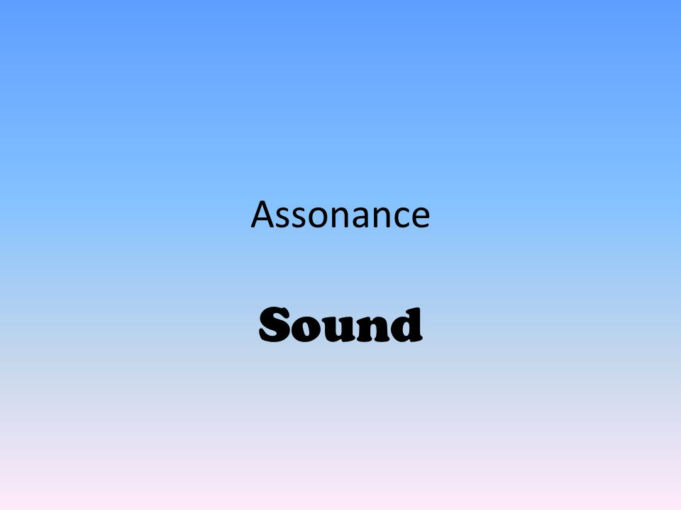 Assonance Sound