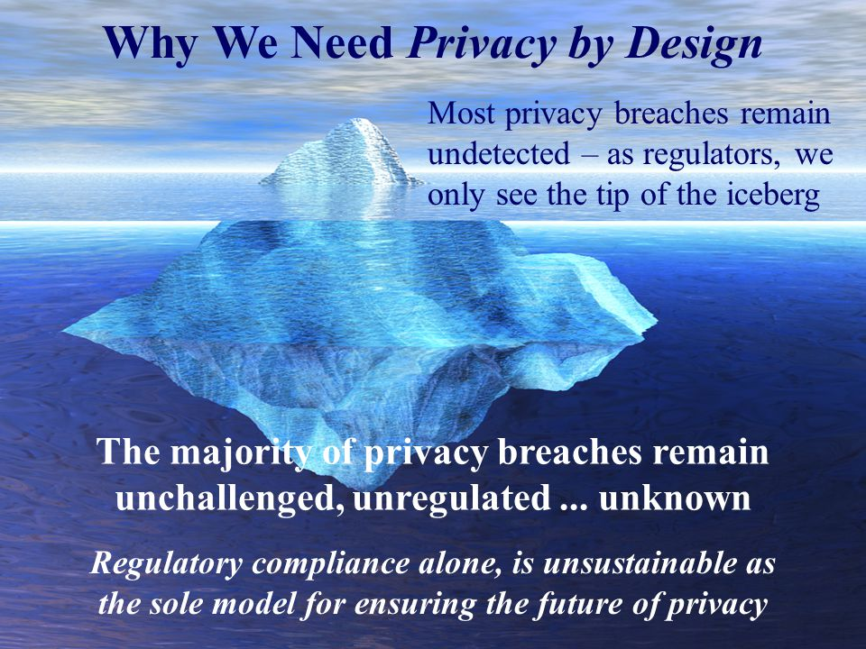 Why We Need Privacy by Design Most privacy breaches remain undetected – as regulators, we only see the tip of the iceberg The majority of privacy breaches remain unchallenged, unregulated...