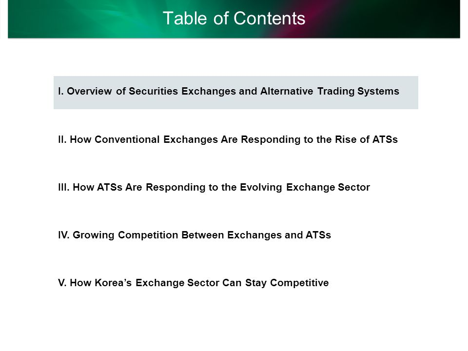 Exchanges ensure that orders are executed and transactions settled in the fastest possible way.
