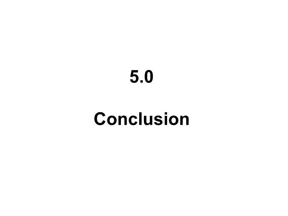 5.0 Conclusion