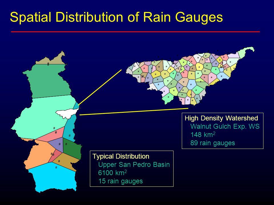 Spatial Distribution of Rain Gauges # # # # # # # # # # # # # # # # # # # # # # # # # # # # # # # # # # # # # # # # # # # # # # # # # # # # # # # # #