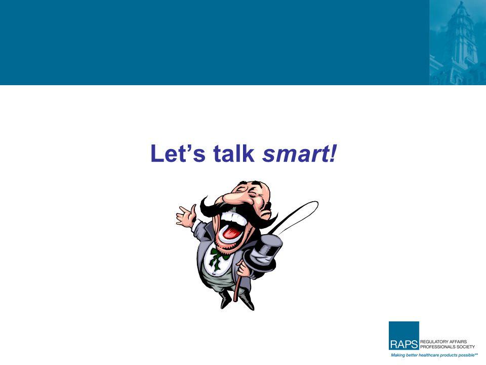 Let's talk smart!
