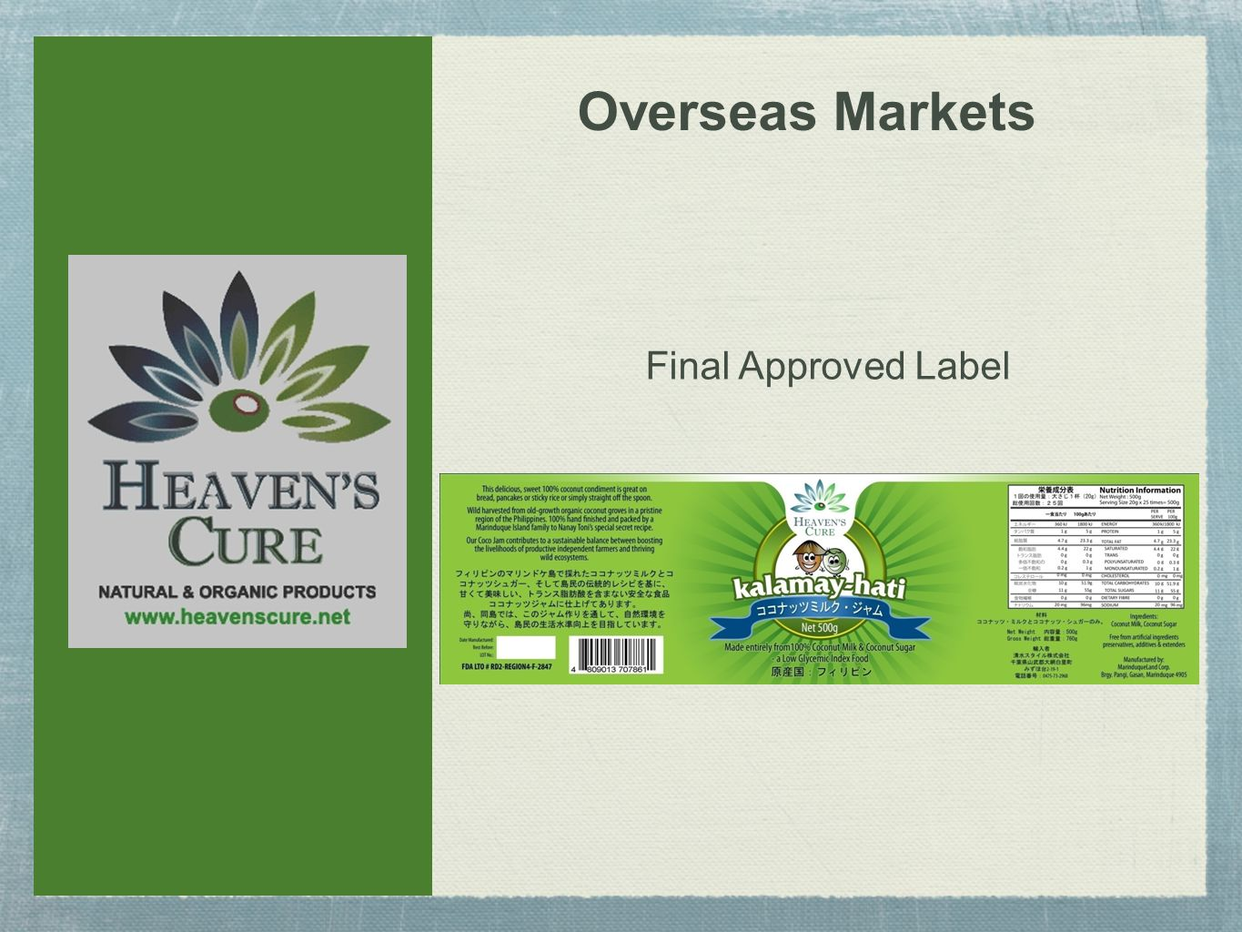 Overseas Markets Final Approved Label
