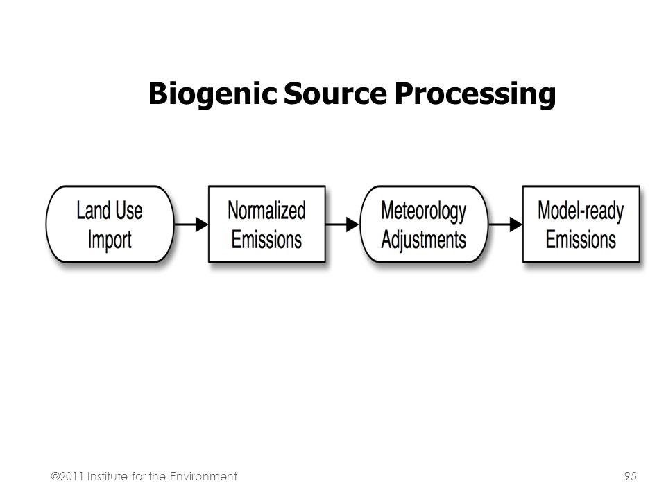Biogenic Source Processing ©2011 Institute for the Environment95