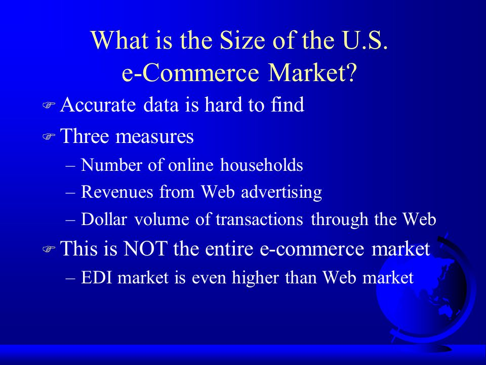 What is the Size of the U.S. e-Commerce Market.