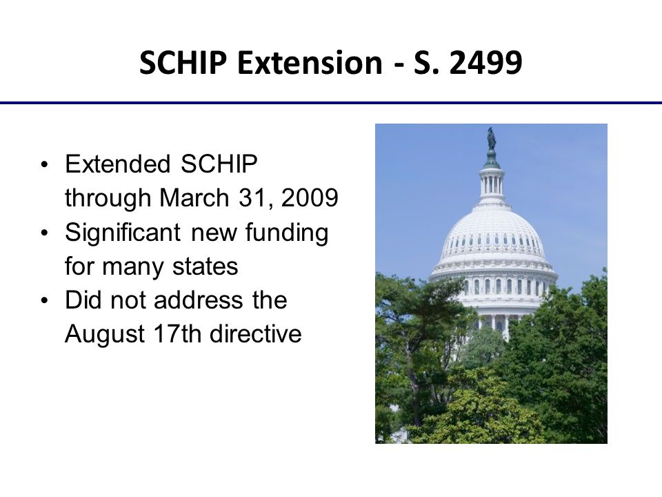 SCHIP Extension - S.