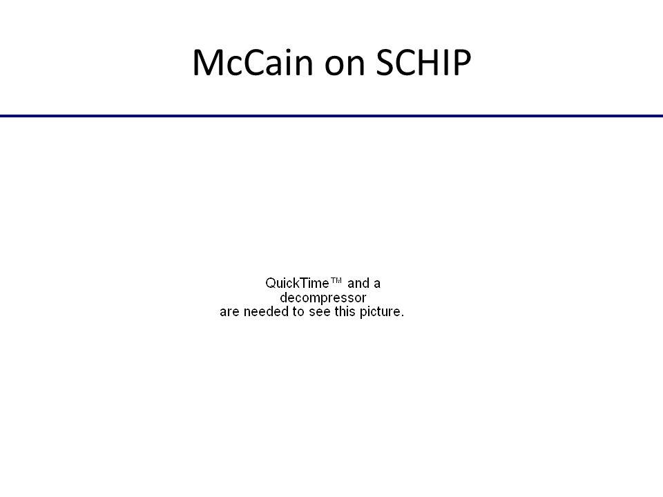 McCain on SCHIP