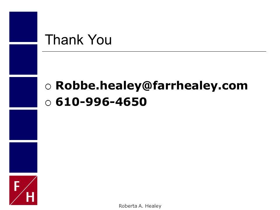 Roberta A. Healey Success.