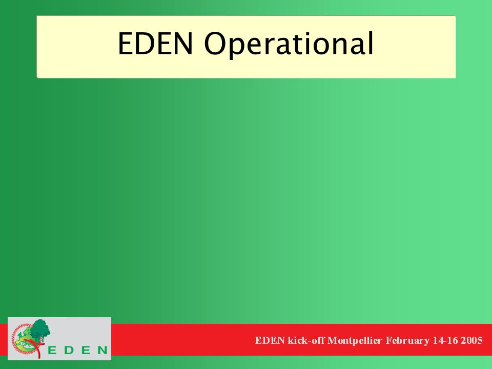 EDEN Operational