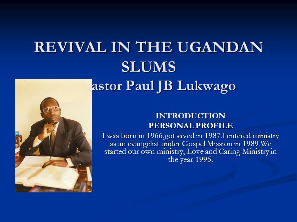 by Pastor Paul JB Lukwago In Africa, we have been putting much emphasis on the spiritual ministry not bothering with the physical part of it.