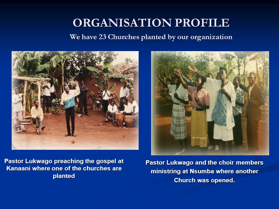 In the year 1997 God joined me with Bishop Chris Wanyonyi and we have worked together in the planting of churches and as well as training church leaders.