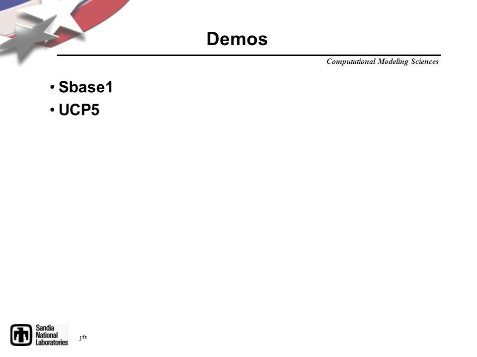 Computational Modeling Sciences jfs Demos Sbase1 UCP5