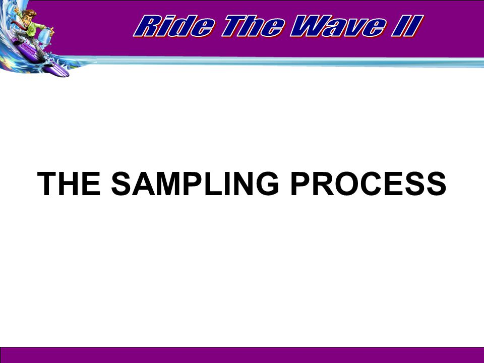 Why learn the sampling process.