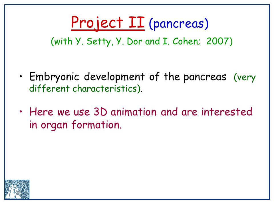 Project II (pancreas) (with Y. Setty, Y. Dor and I.