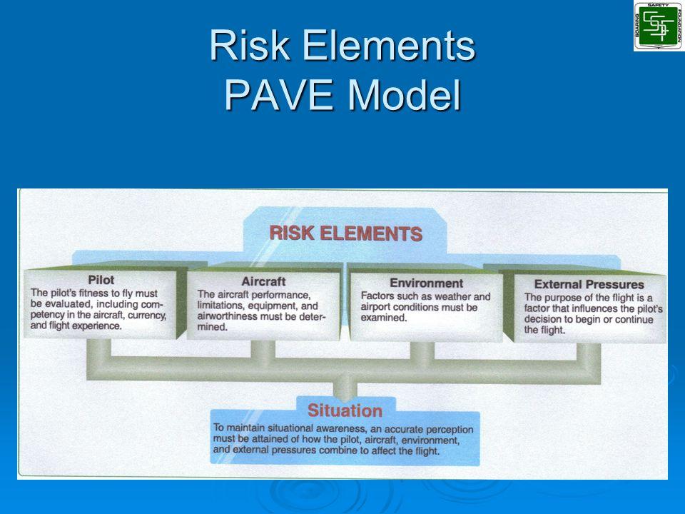 Risk Elements PAVE Model