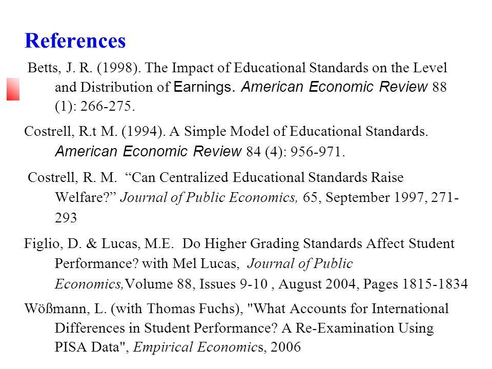 References Betts, J. R. (1998).