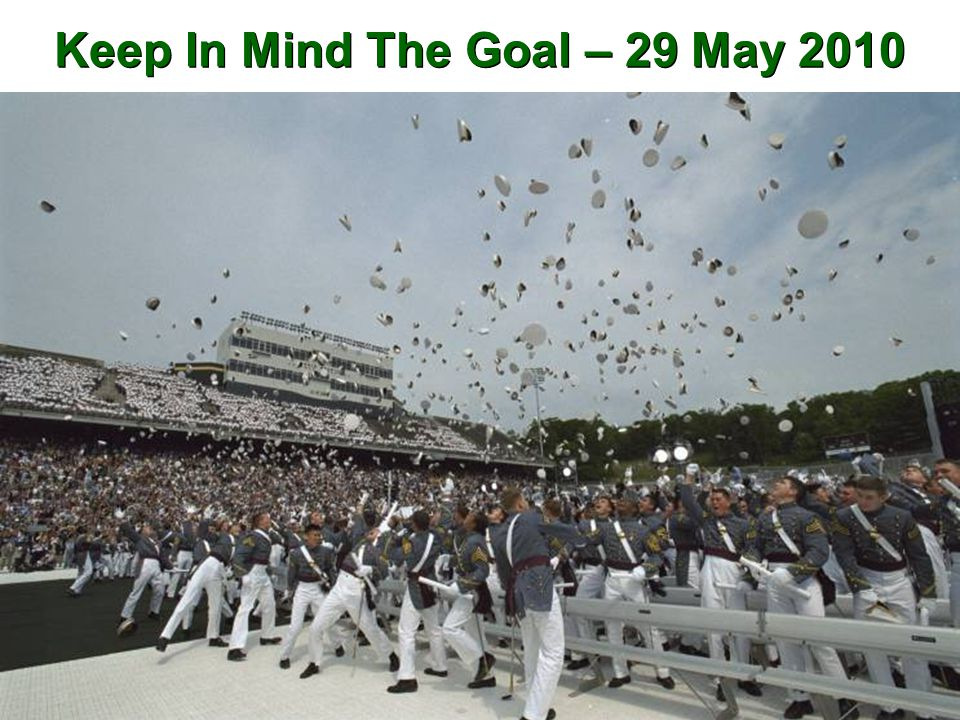 Keep In Mind The Goal – 29 May 2010