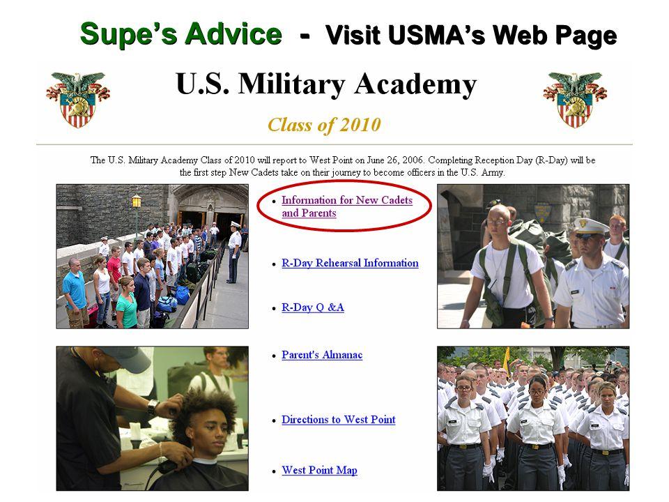Supe's Advice - Visit USMA's Web Page