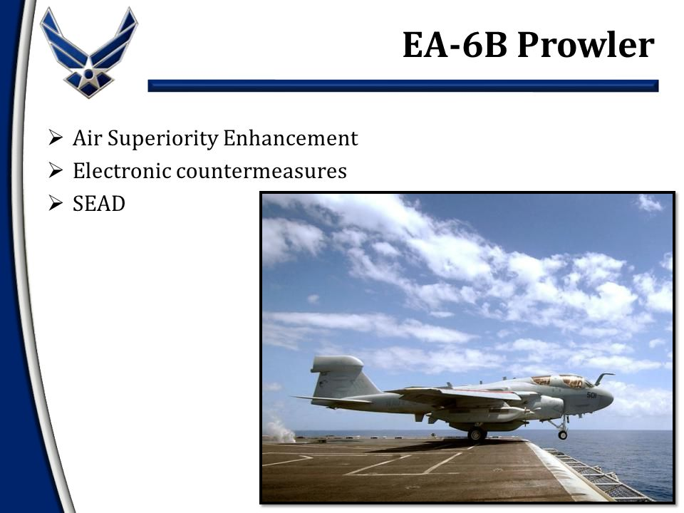  Air Superiority Enhancement  Electronic countermeasures  SEAD EA-6B Prowler
