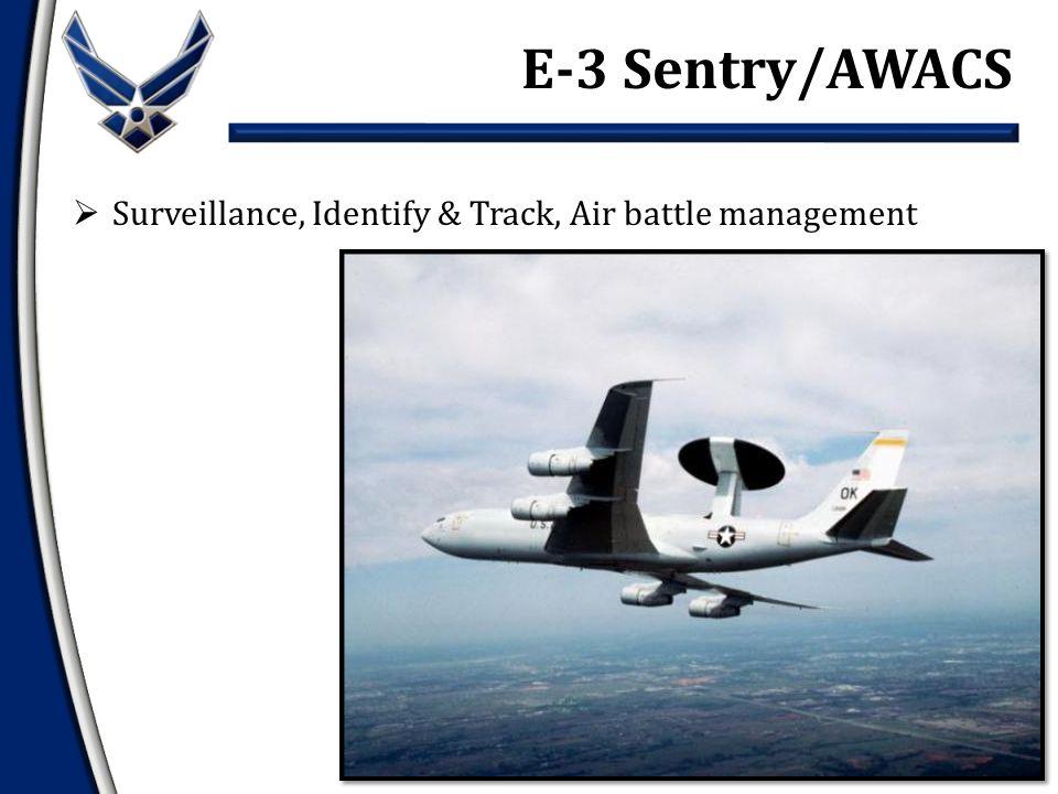  Surveillance, Identify & Track, Air battle management E-3 Sentry/AWACS