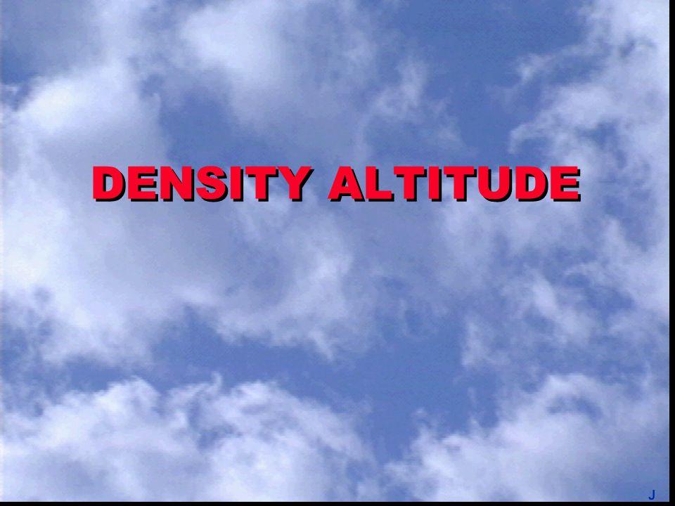 DENSITY ALTITUDE J