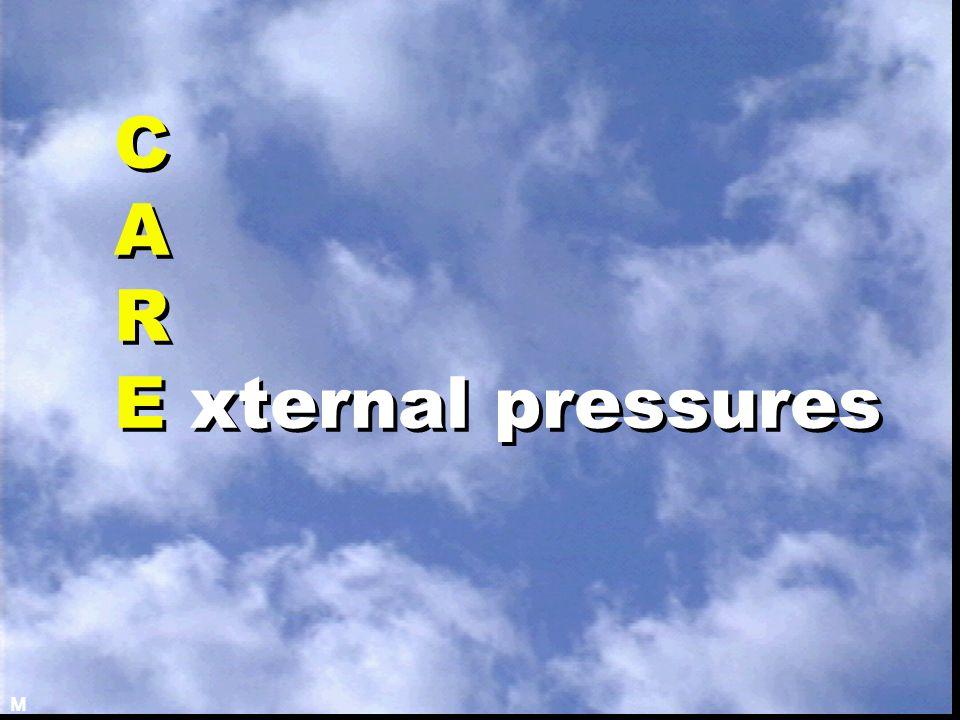 C A R E xternal pressures M