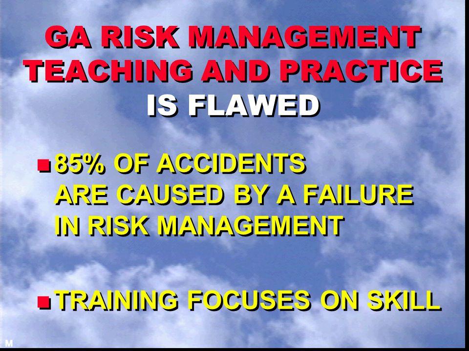 BUT EVEN A LONG LIST OF UNACCEPTABLE RISKS DOESN'T PREPARE PILOTS FOR UNANTICIPATED RISKS J